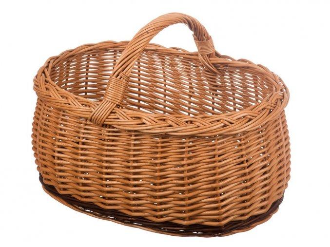 """Prútený Hubársky košík """"Hríb"""" veľký - Kvalitné prútené koše"""