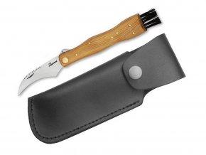 Hubársky nôž Leopard - svetlý s koženým puzdrom - Hubárske nože