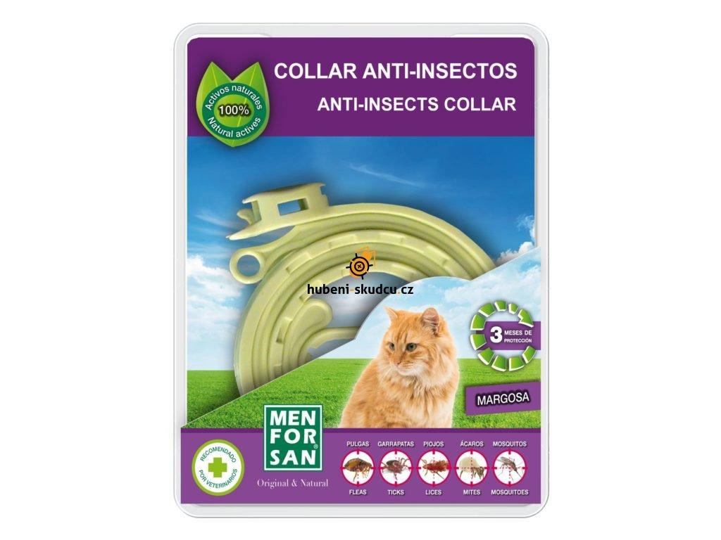 menforsan prirodni antiparazitni obojek pro kocky 30 cm