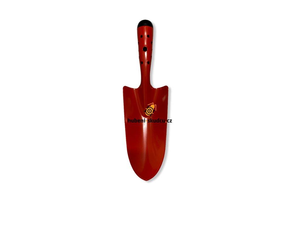 kovova sazeci lopatka cervena