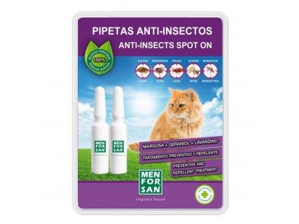 menforsan antiparazitni pipety pro kocky 2 ks