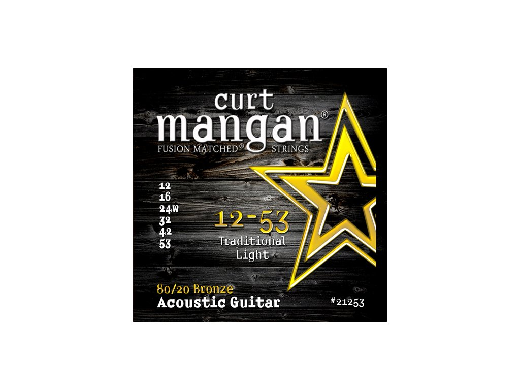 Curt Mangan Strings - 12-53 80/20 Bronze  struny pro akustickou kytaru