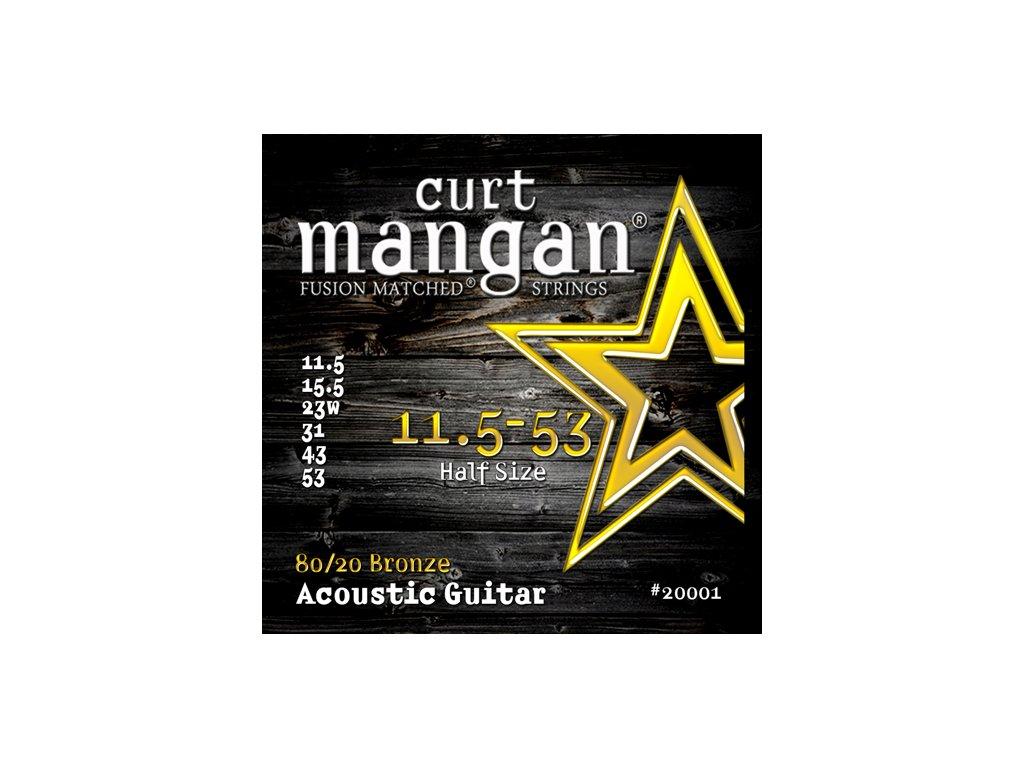 Curt Mangan Strings - 11.5-53 80/20 Bronze  struny pro akustickou kytaru