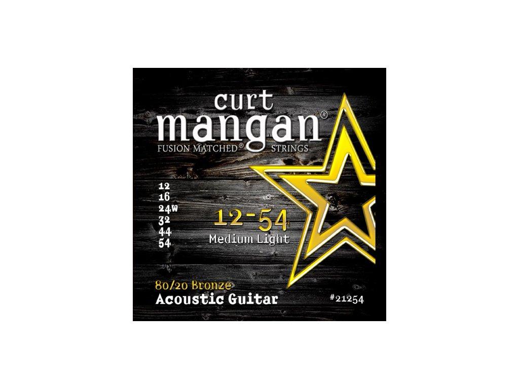 Curt Mangan Strings - 12-54 80/20 Bronze  struny pro akustickou kytaru