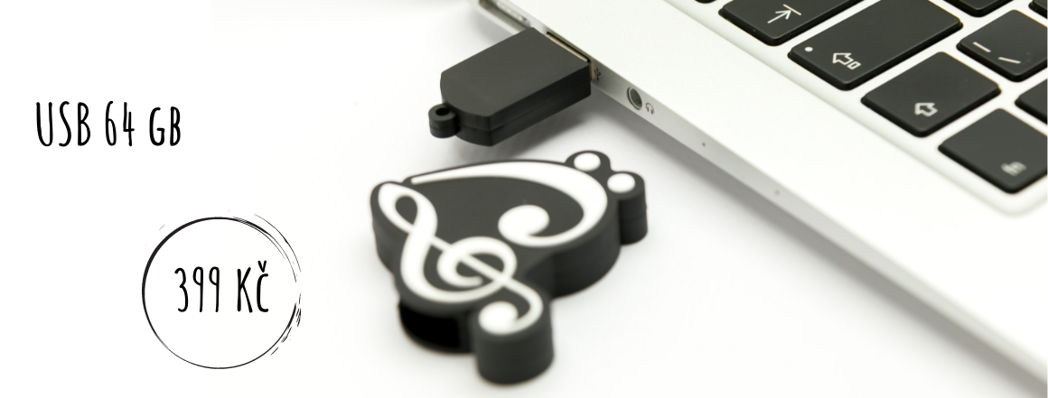 USB s hudebním motivem