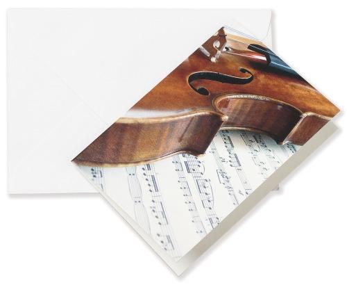 Hudební blahopřání a přání do obálky