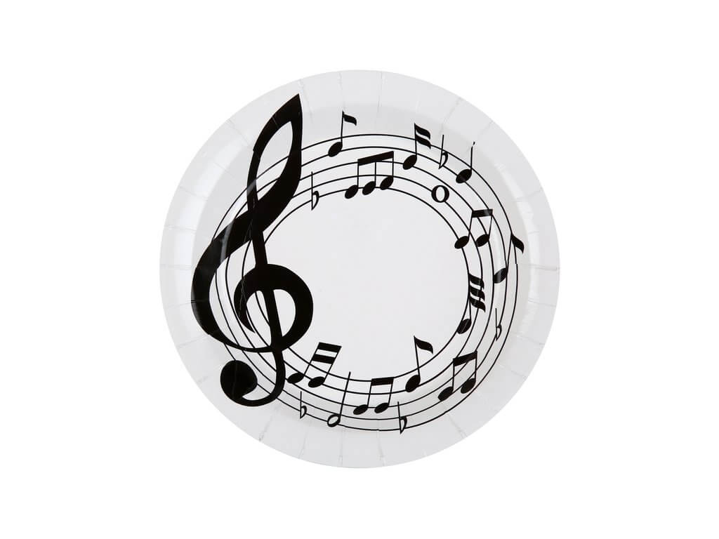 Hudební příbory a dřevěné i papírové nádobí