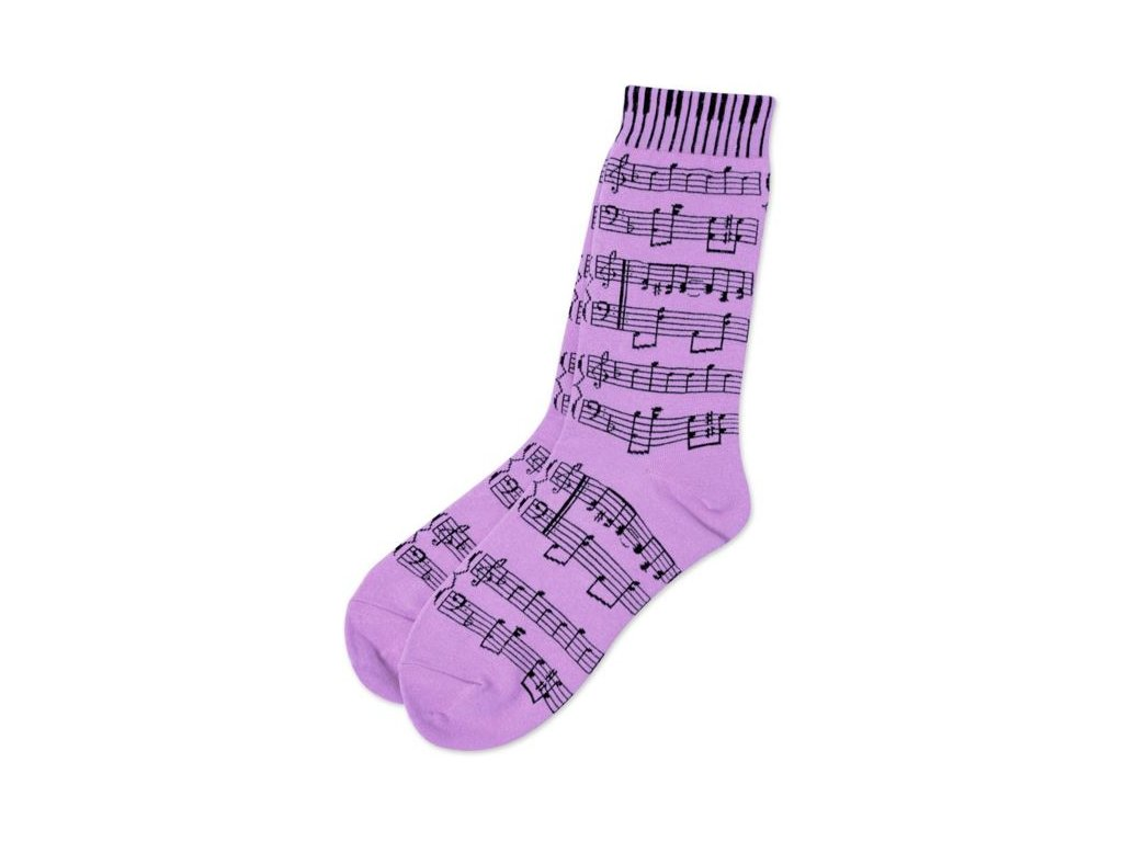 ponožky paritura fialové