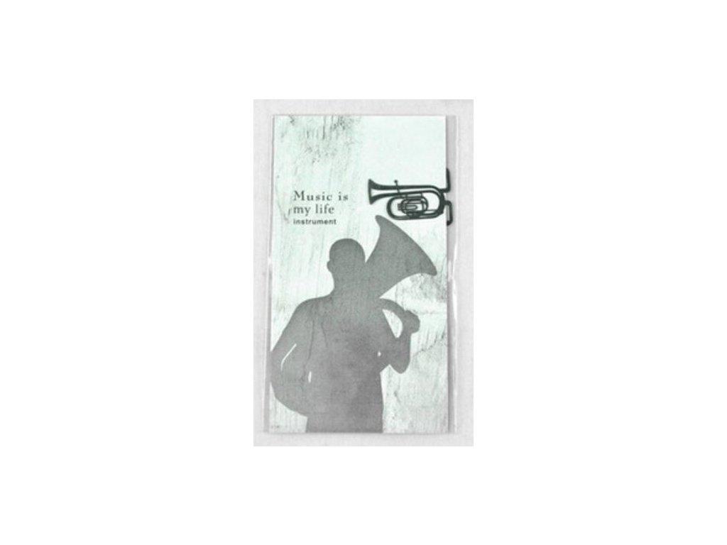 Záložka do knihy tuba - stříbrná