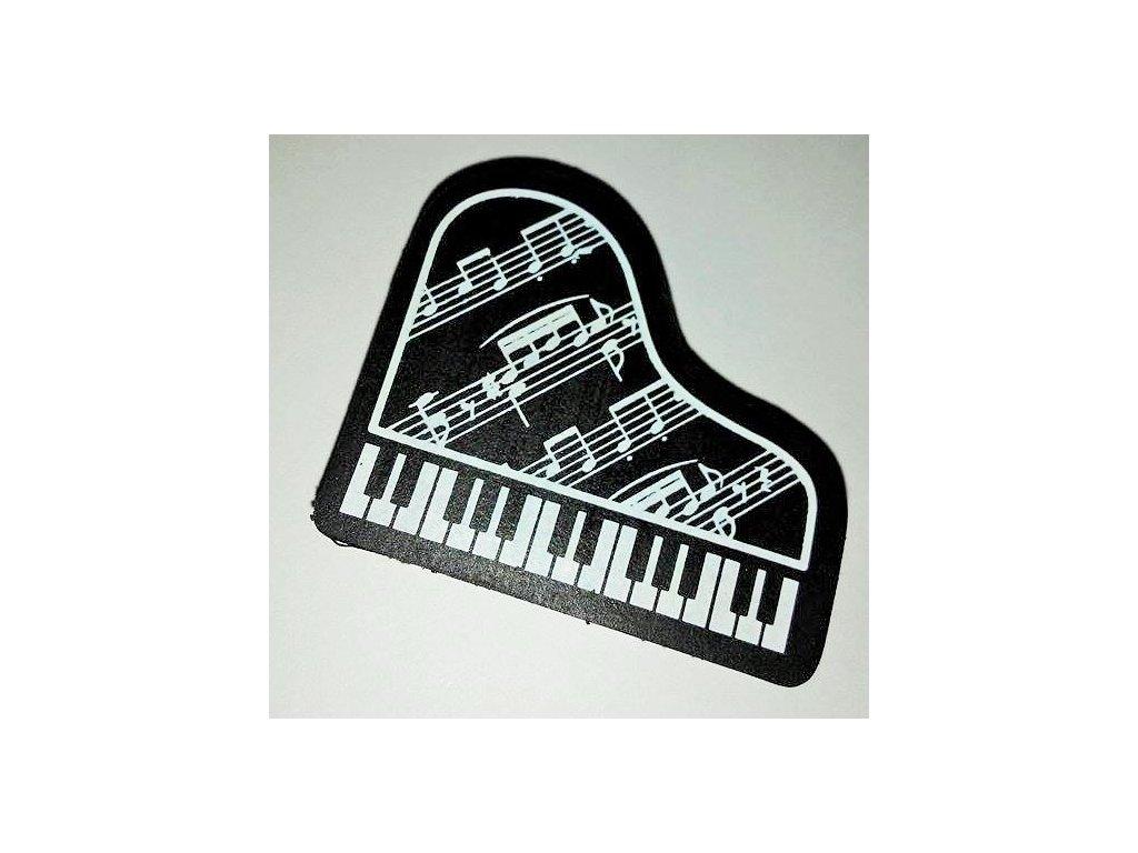 guma klavír s partiturou černá