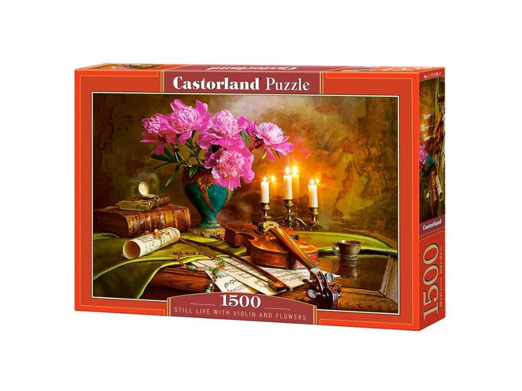 puzzle hudební zátiší housle