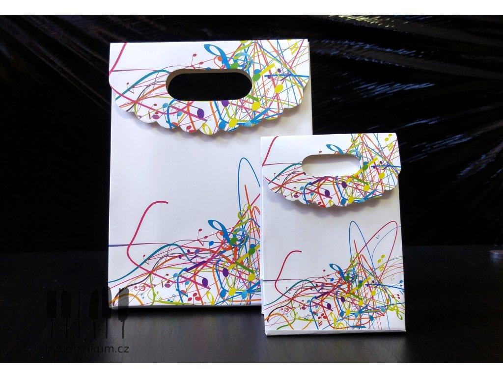 Dárková taštička s barevnými notami MAGICO - S