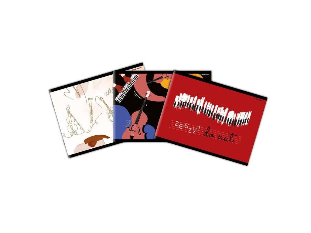 notový sešit music