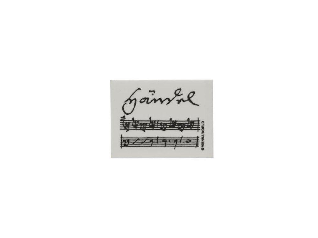 guma s partiturou Handel