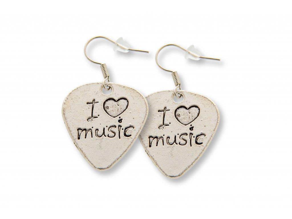 Náušnice TRSÁTKO I love music