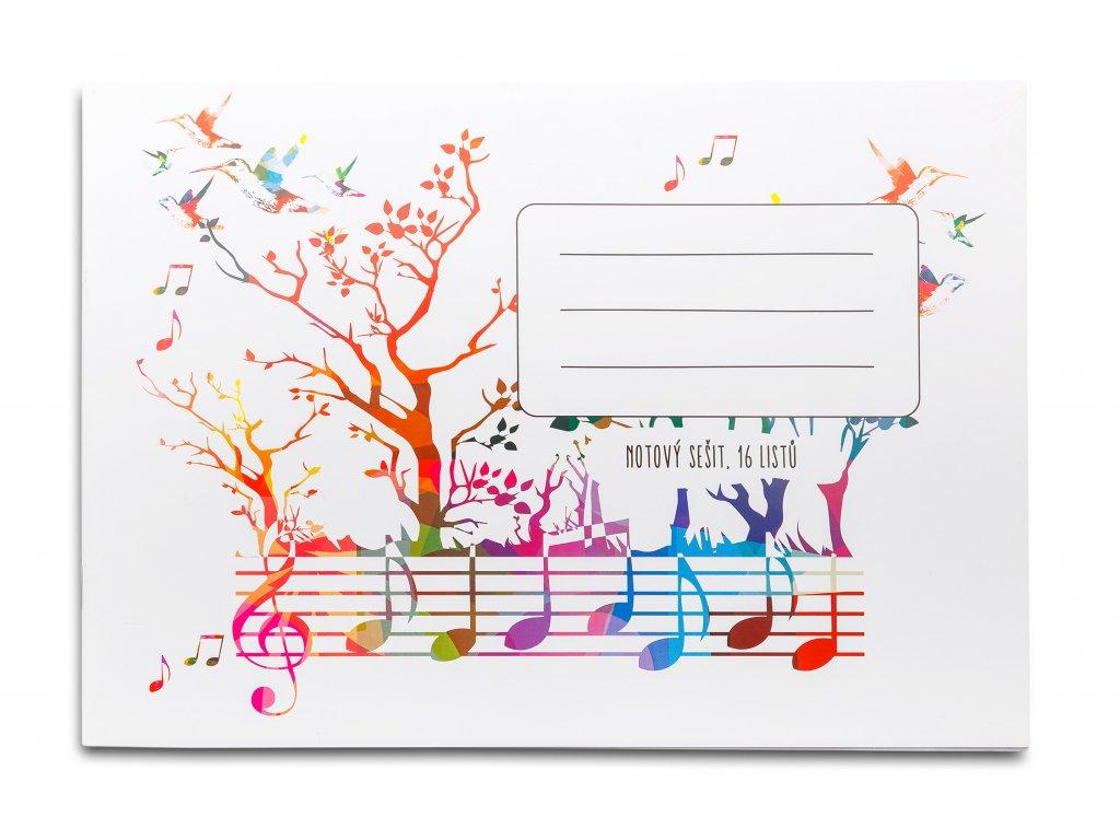 Notový sešit Kolibříci s notami (1)