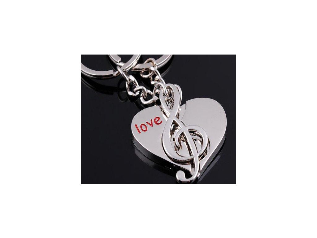 Přívěsky na klíče srdce & houslový klíč