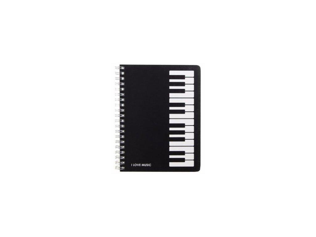 Blok s klaviaturou - I love music