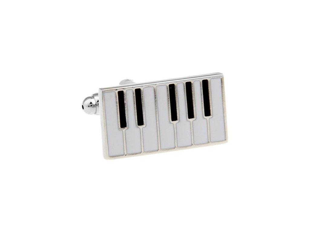 Manžetové knoflíčky - klaviatura