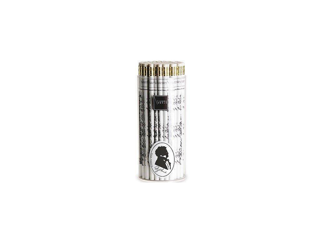 Dřevěná tužka Schubert bílá