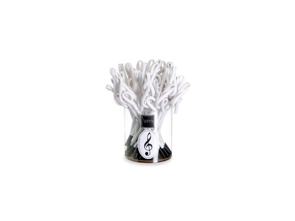 tužka ve tvaru houslového klíče bílá