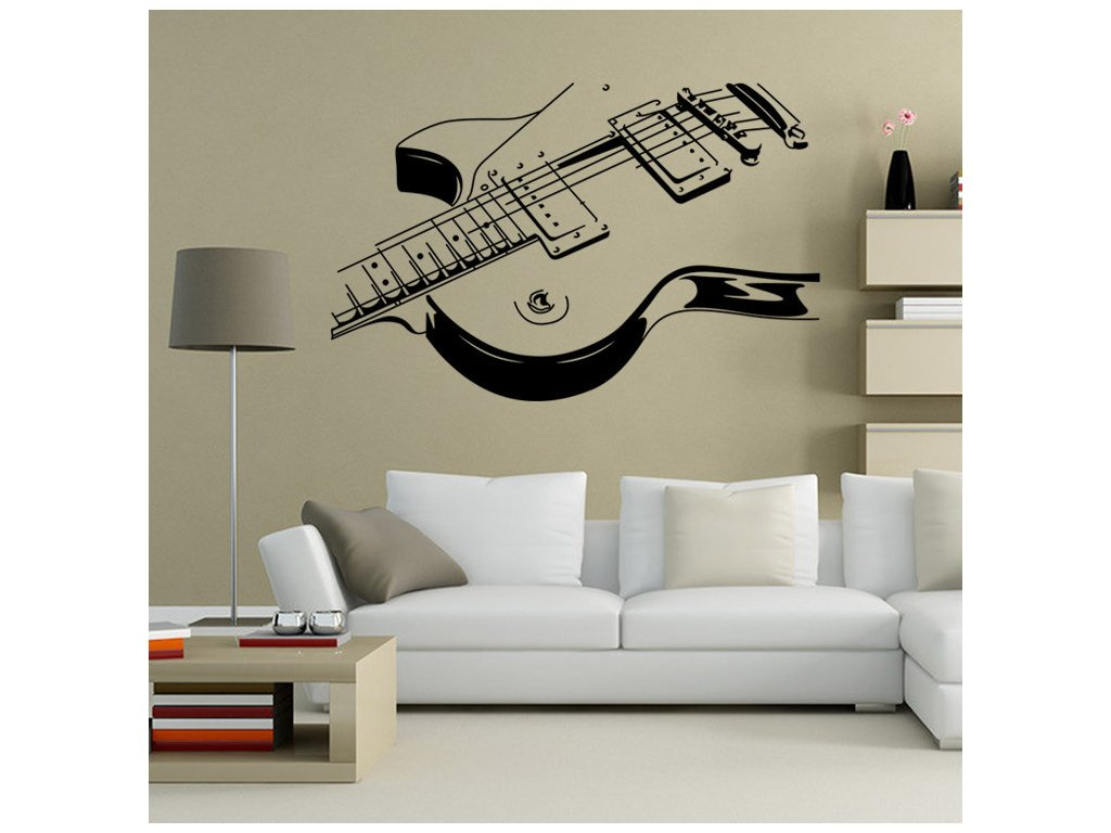dekorace elektrická kytara