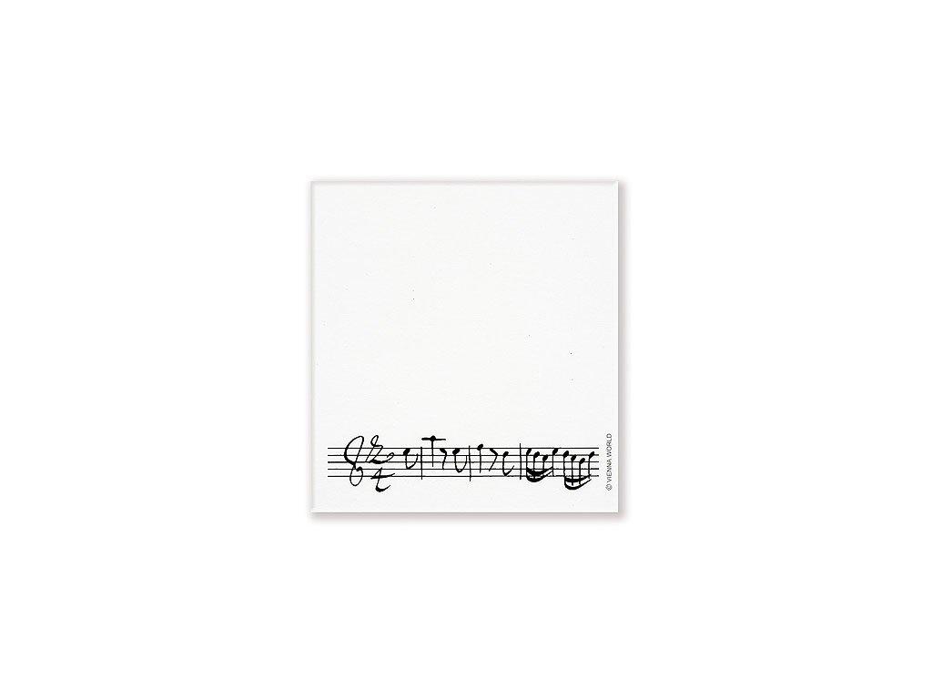lepící poznámkový bloček partitura