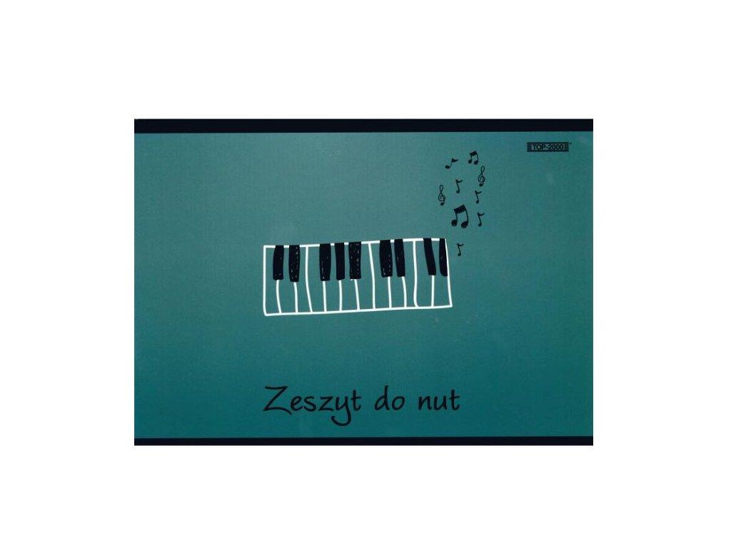 notový sešit klaviatura