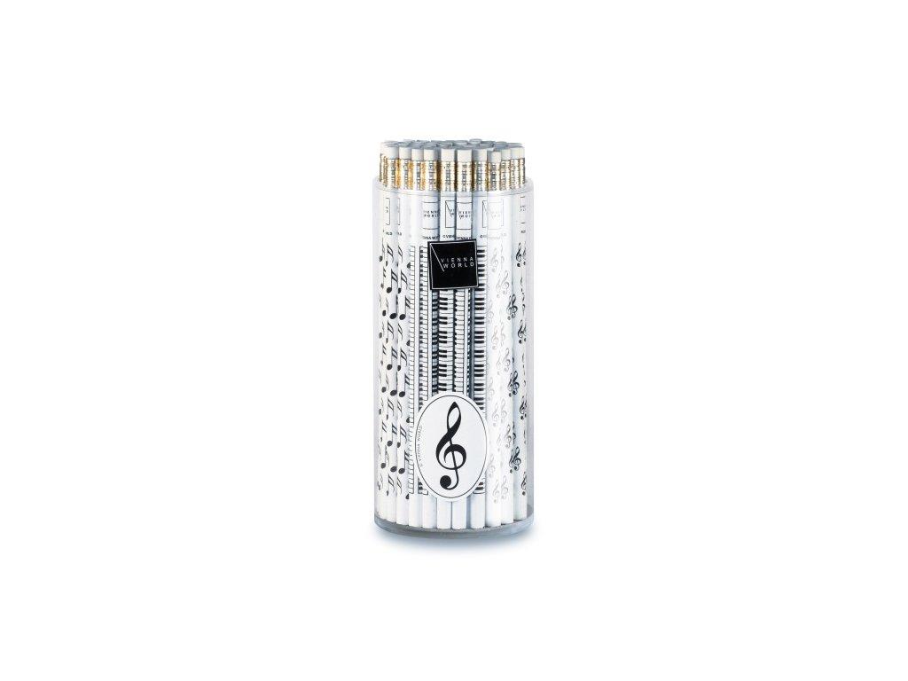 Tužka dřevěná - houslový klíč bílá