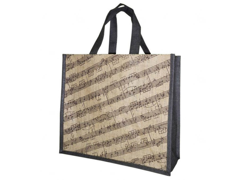 jutová taška s partiturou a notami