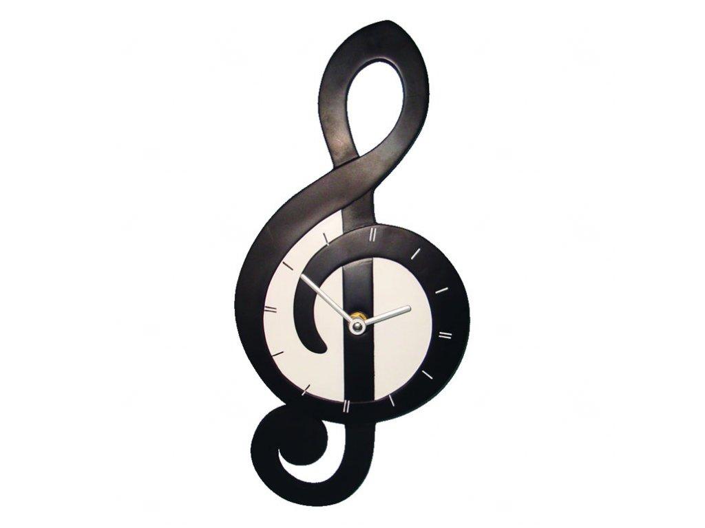 nástěnné hodiny houslový klíč