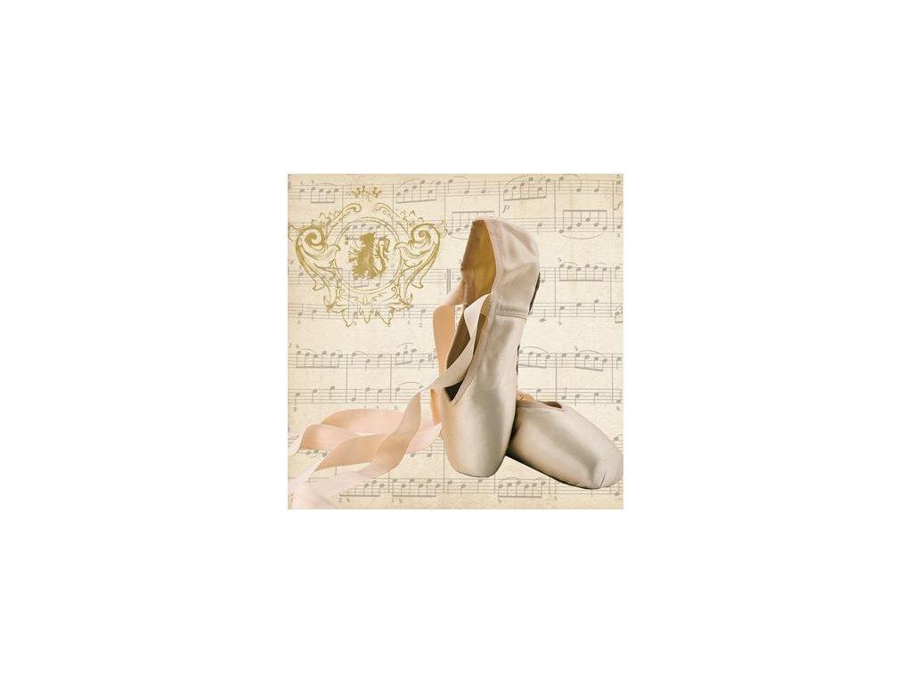 ubrousky baletní špičky s notami