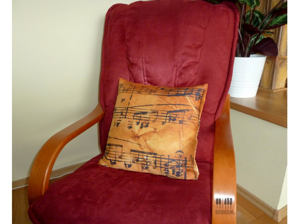 povlak na polštářek HARMONIE, noty, partitura