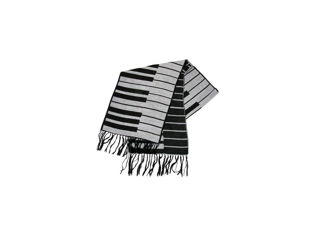 šál s klaviaturou pletený