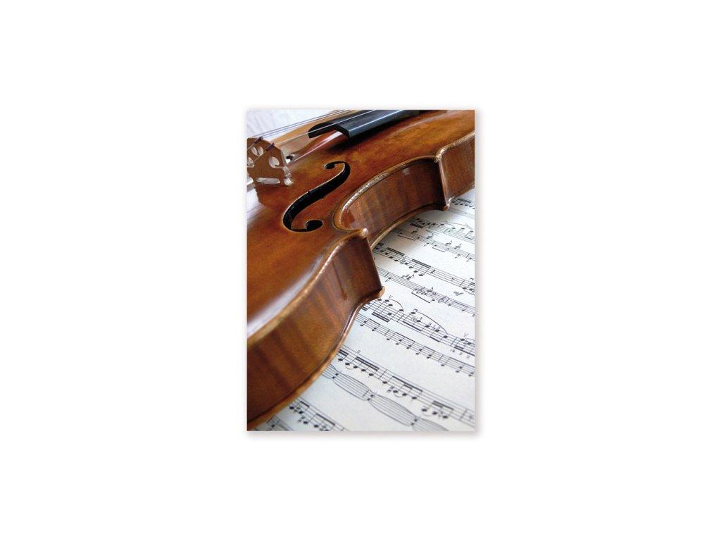 pohlednice housle