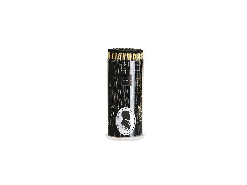 tužka dřevěná strauss černá