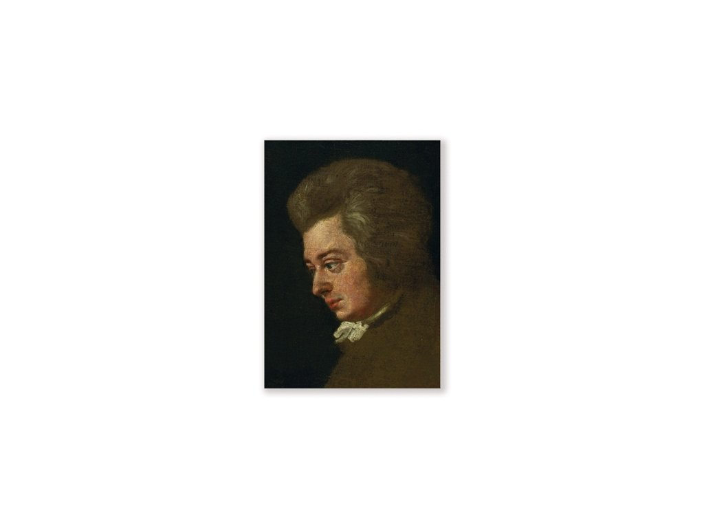 pohlednice mozart portrét