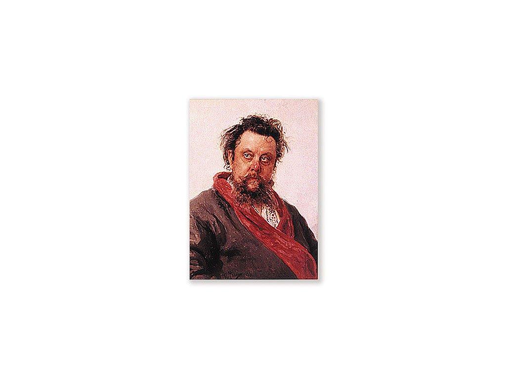Pohlednice Mussorgskij - portrét