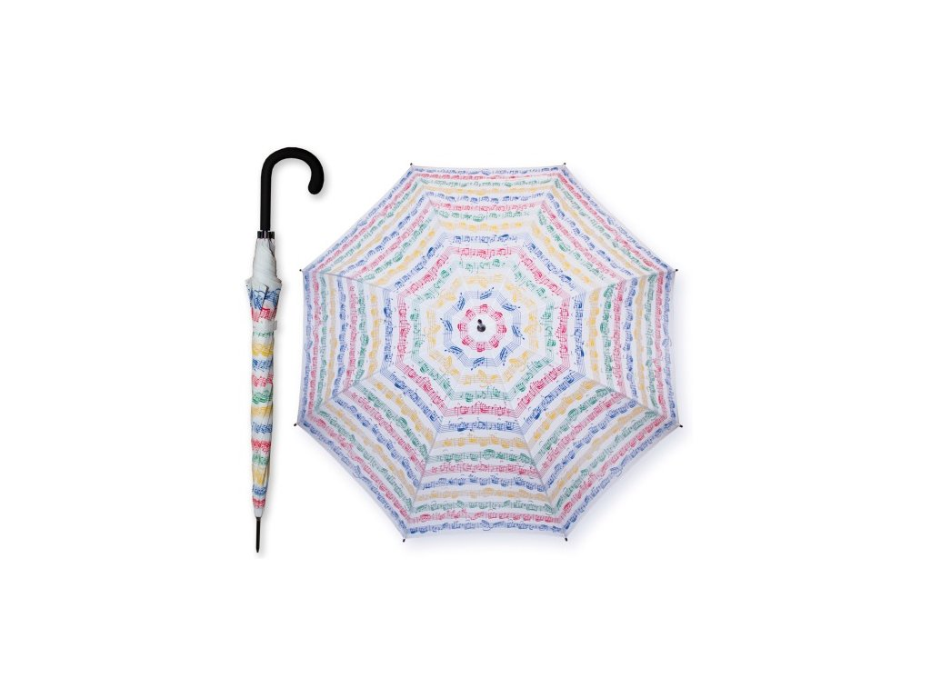 Deštník PARTITURA BACH barevný, dlouhý