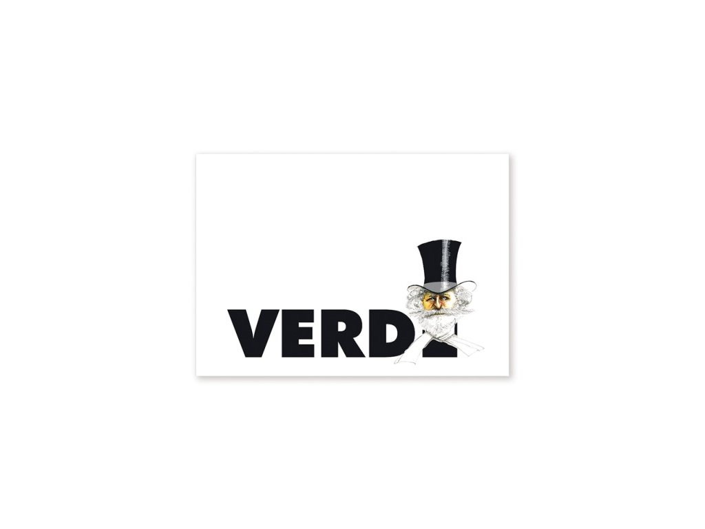 pohlednice karikatura Verdi