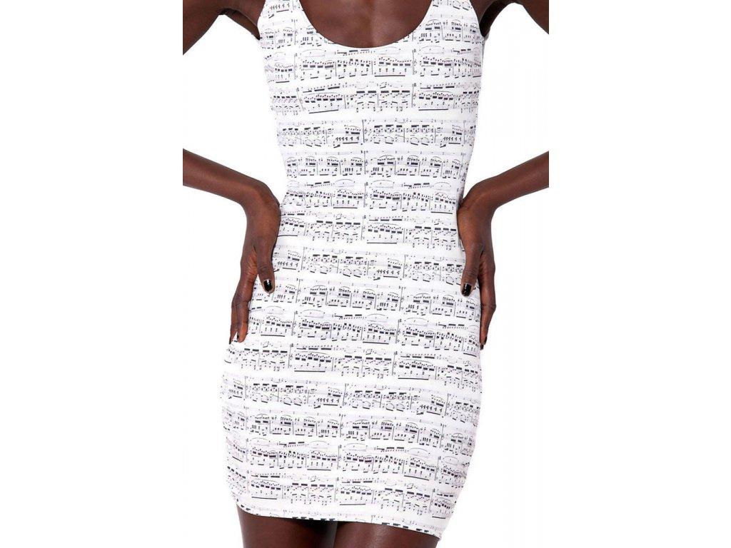 Šaty s notami Chopin