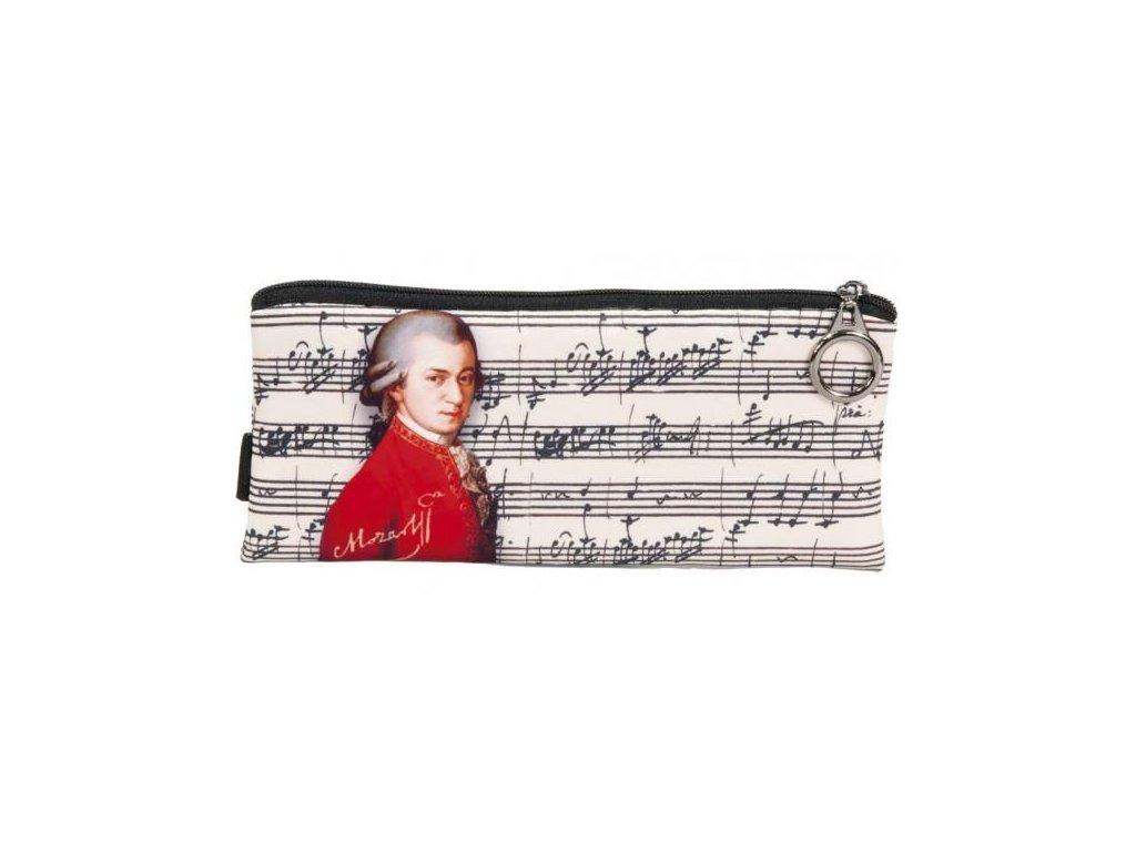 pouzdro penál textilní Mozart, hudební skladatel