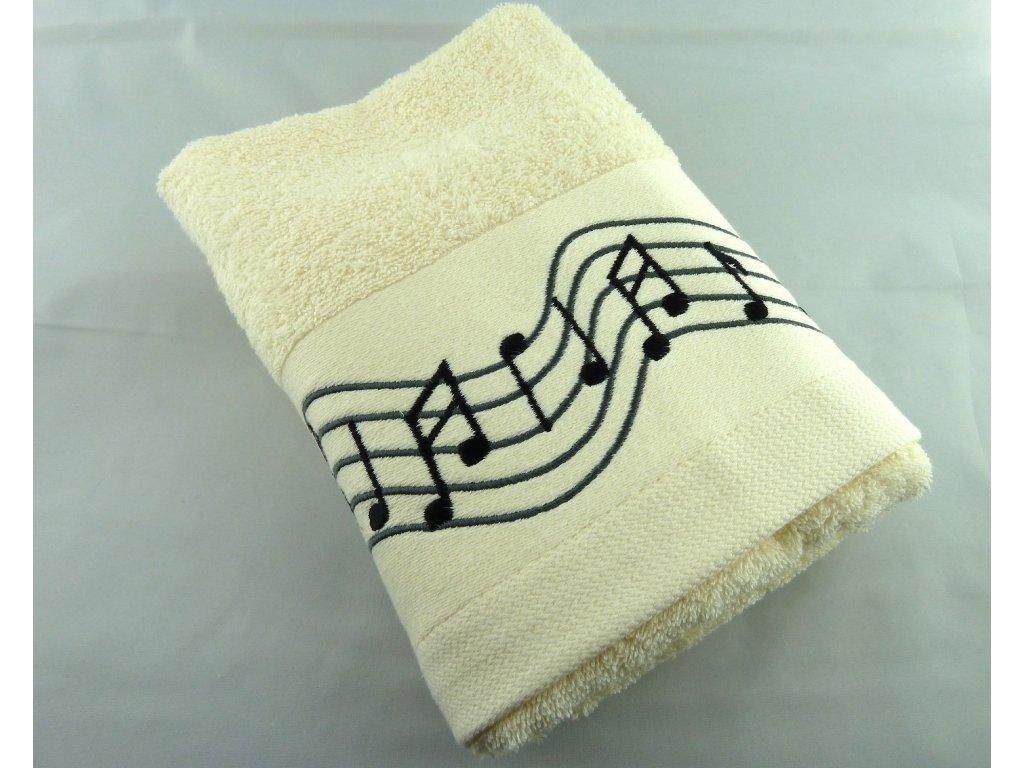 ručník partitura smetanový