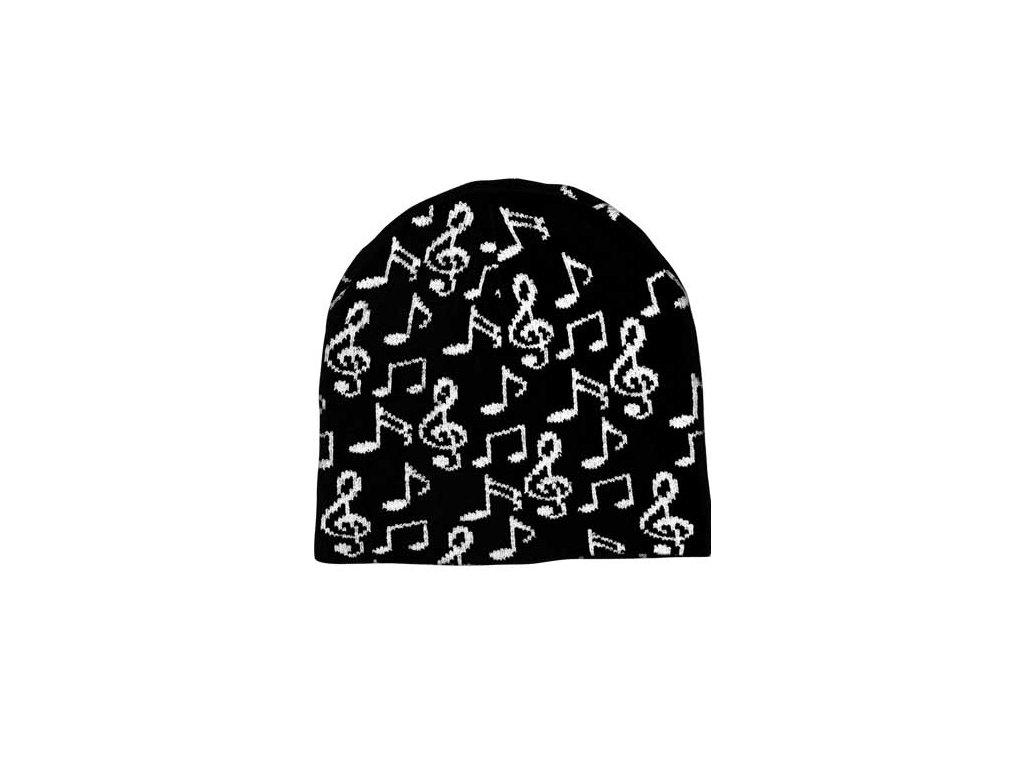 Čepice s notami - černá