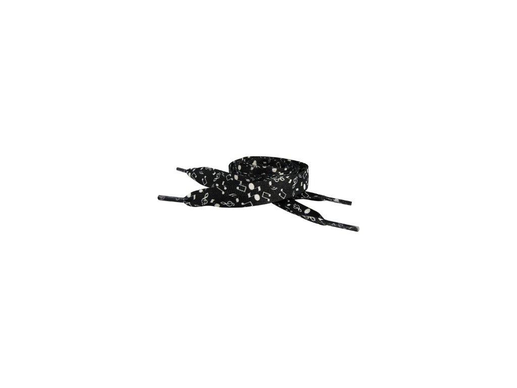 Tkaničky - noty - široké černé