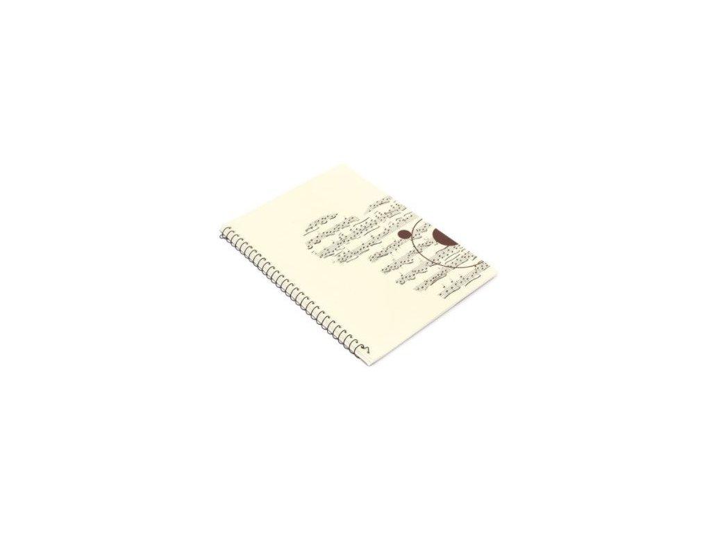 notový sešit hudební medvěd partitura