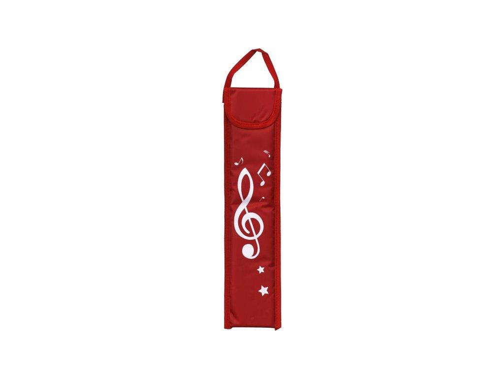 obal na flétnu houslový klíč červený