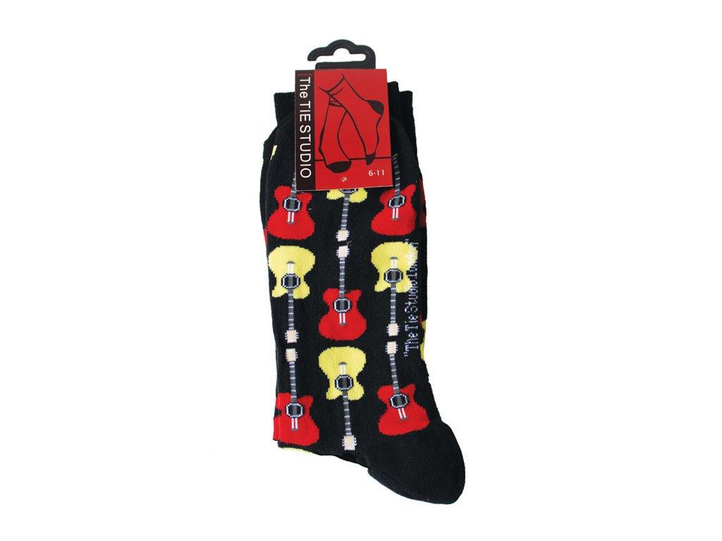 pánské ponožky barevné kytary