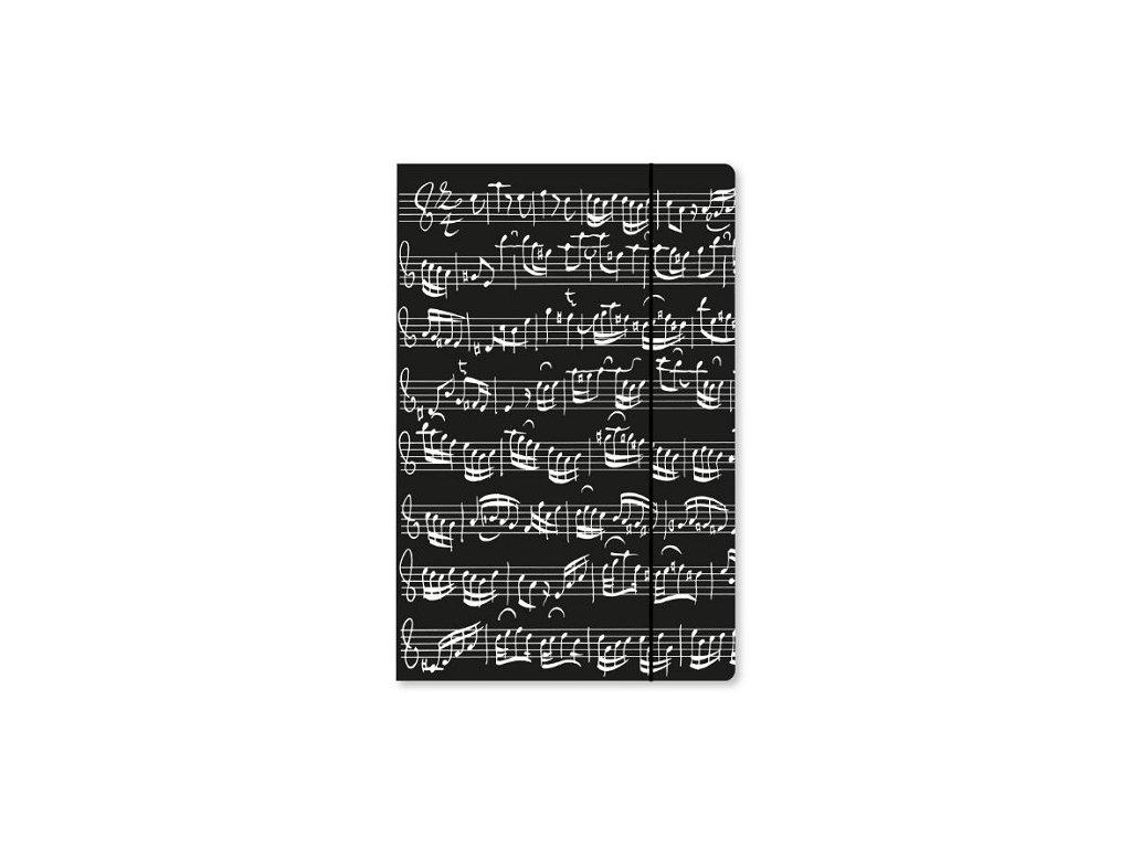Desky PARTITURA BACH - černé s klopami