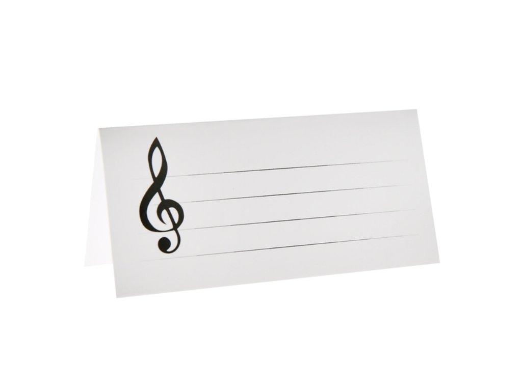 jmenovka na stůl houslový klíč